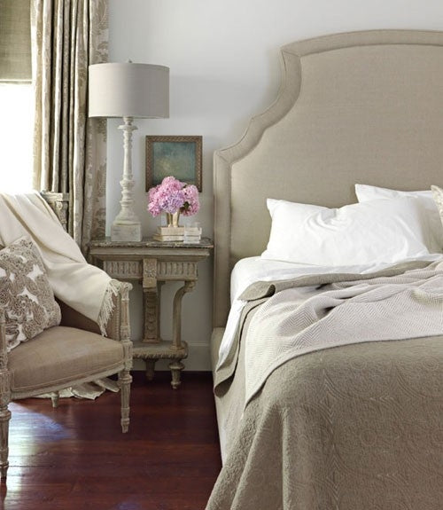 Cream and white French fancy bedroom
