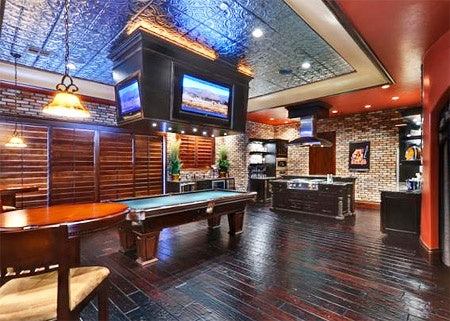 Sports bar style private den