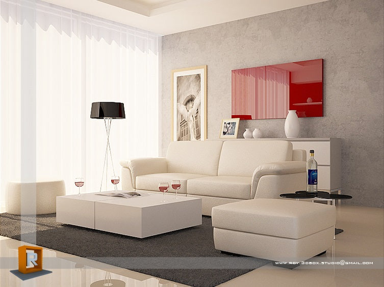Using red in a living room