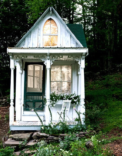 Rustic cottage playhouse