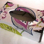 DIY fabric tissue box holder made by a customer