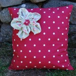 DIY fabric cushion made by a customer