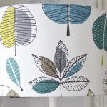 DIY fabric lamp shade made by a customer