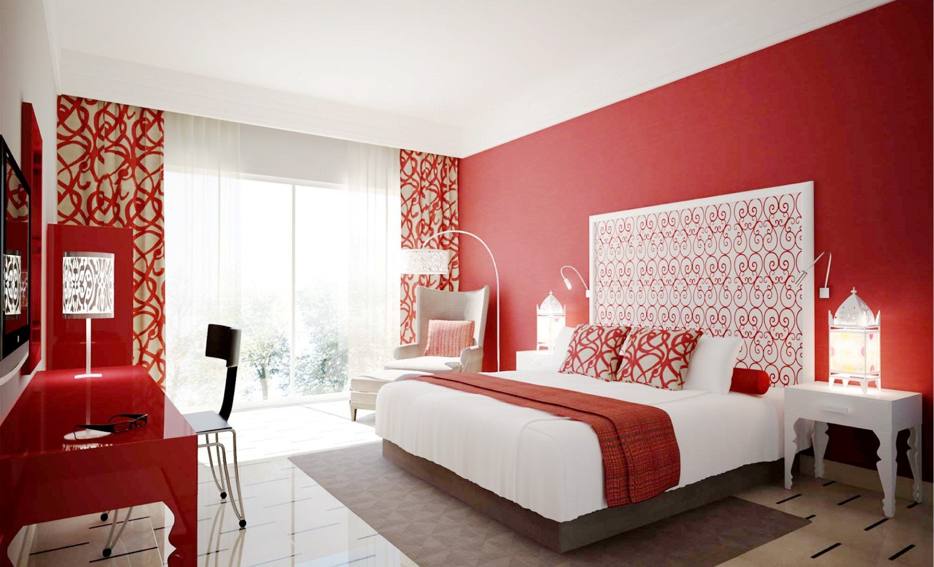 Red bedroom ideas terrys fabrics 39 s blog - Chambre moderne design ...