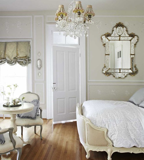 Cream and light gold living space