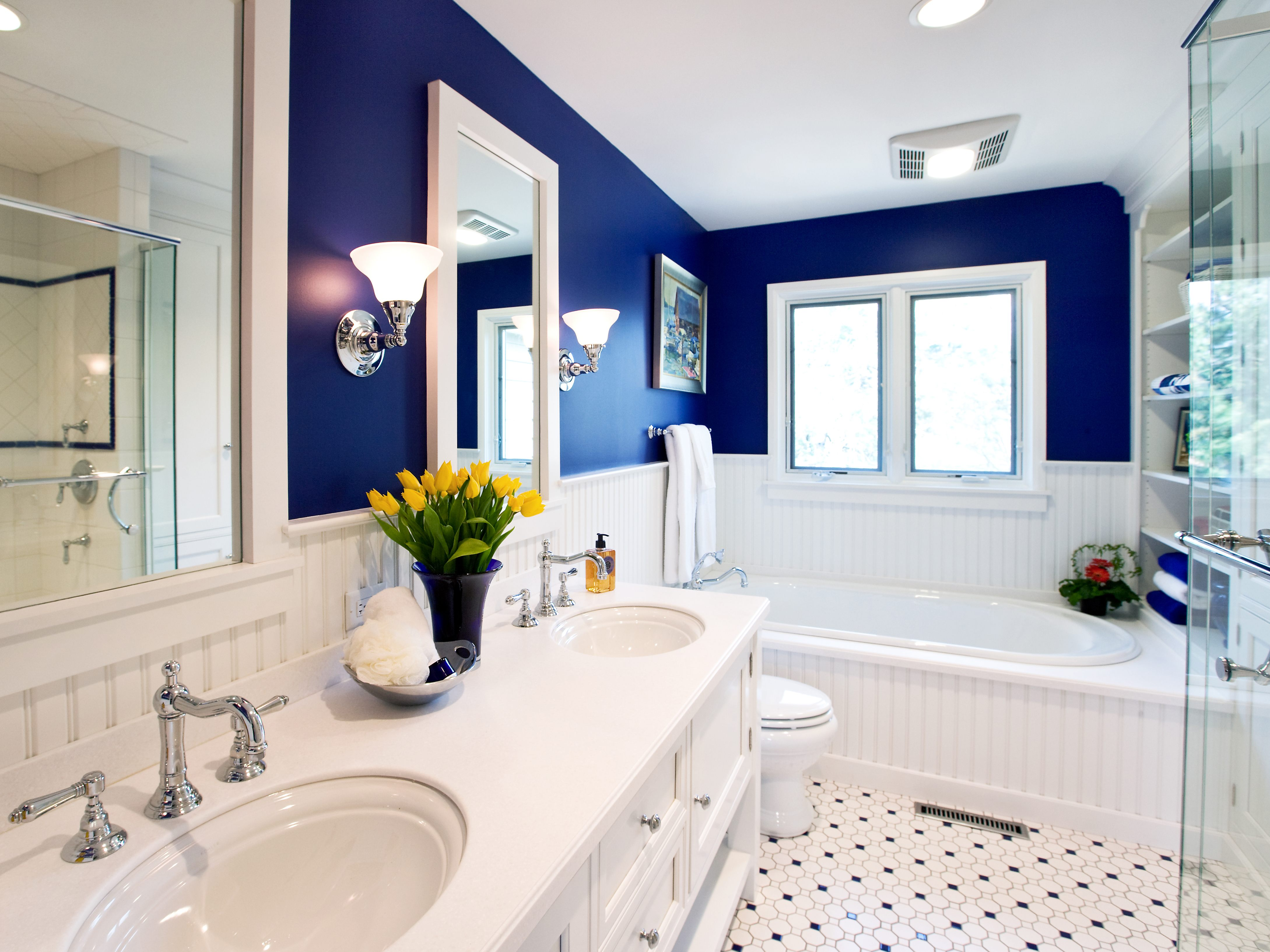regal royal blue is ideal for large bathrooms