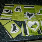 DIY fabric tea towels made by a customer
