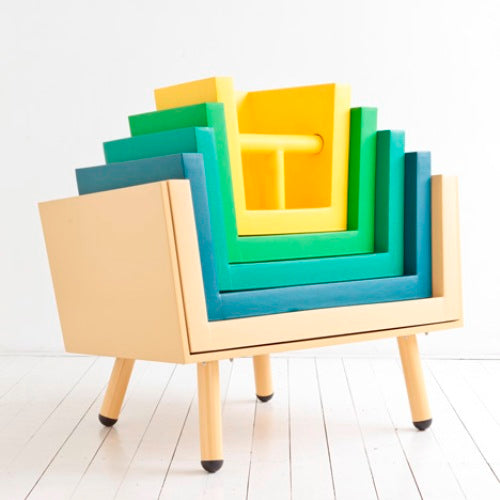 Imagine a chair version of Russian dolls, with small chairs stacked inside larger chairs