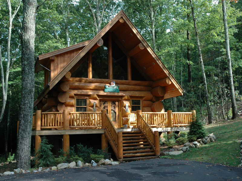 Traditional-Element-of-the-Log-Cabin-Homes-Interior-with-antique ...