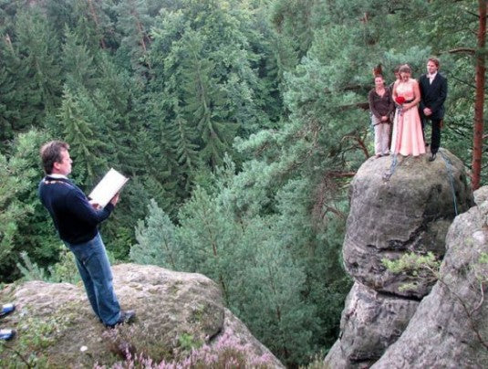 Wedding Ceremony On Top Of Cliff Face