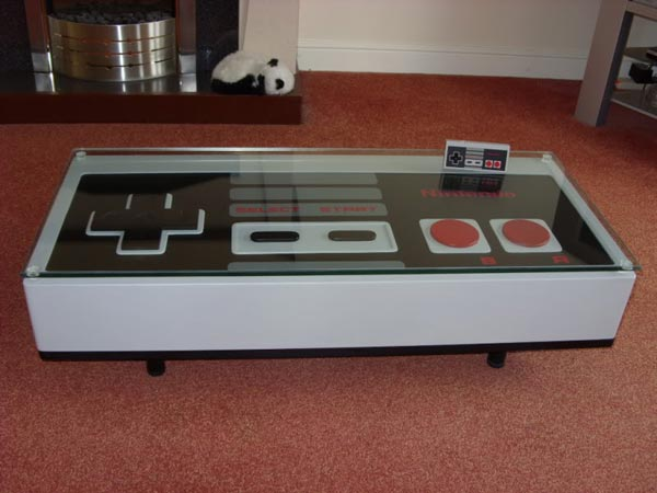 Original NES Nintendo game controller styled coffee table