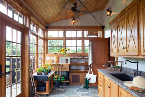Large Kitchen In A Conservatory Shed
