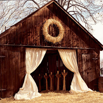 Beautiful Barn Decorated For A Wedding