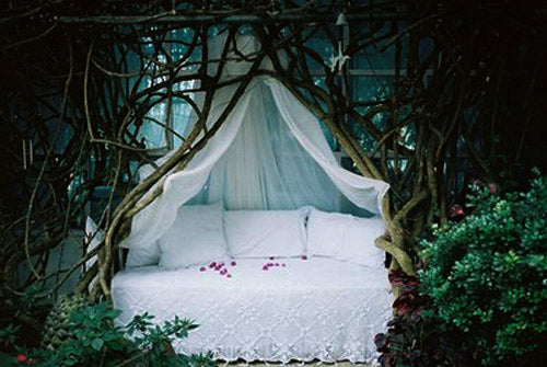 Enchanted Forrest day bed, enclosed by vines and branches