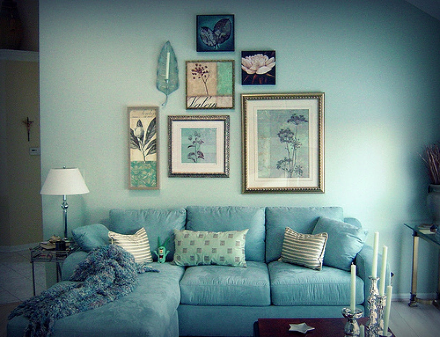 Blue lounge ideas terrys fabrics 39 s blog - Blue green grey living room ...