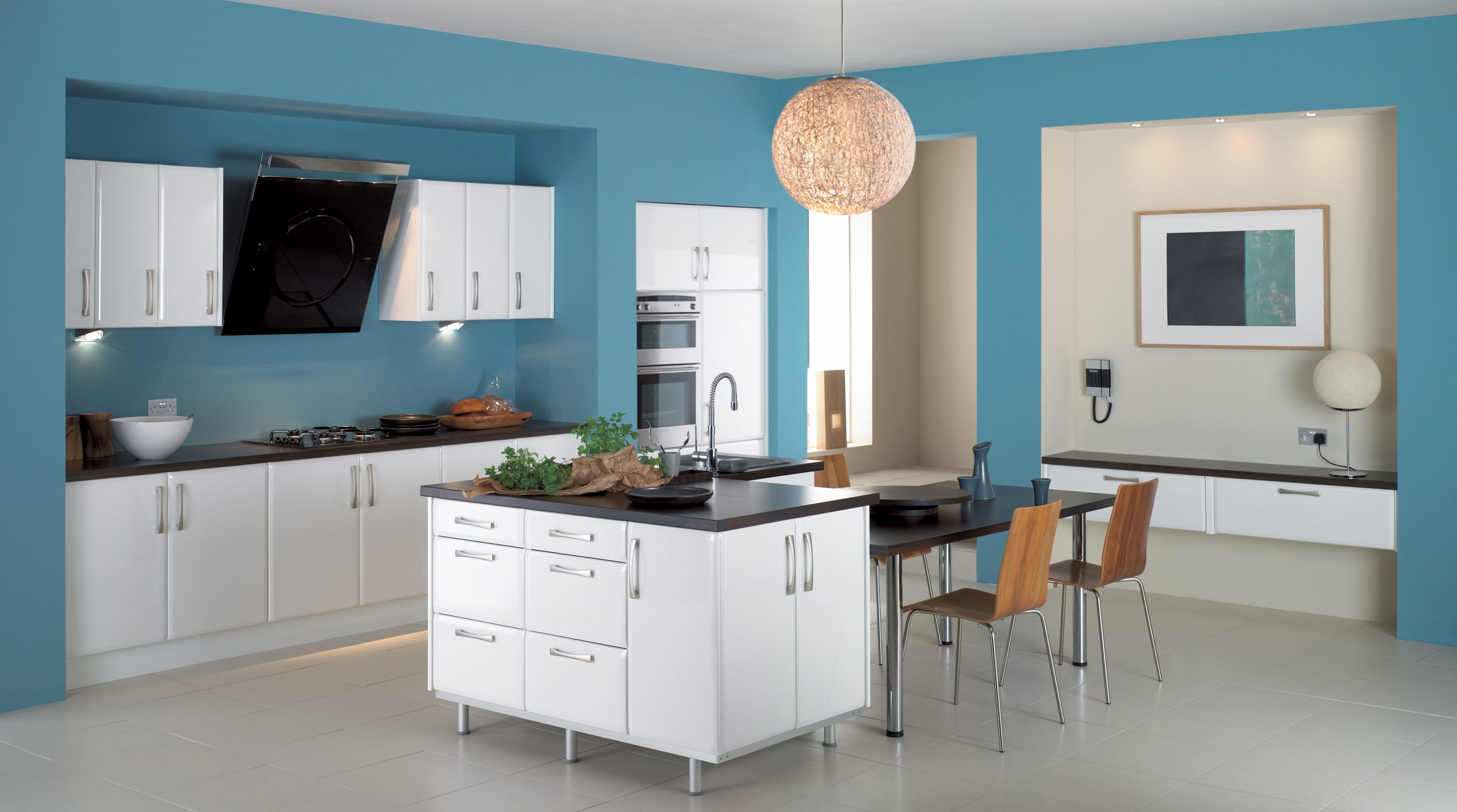 Blue Kitchens Custom Of Blue Kitchen Interior Design Ideas Photos
