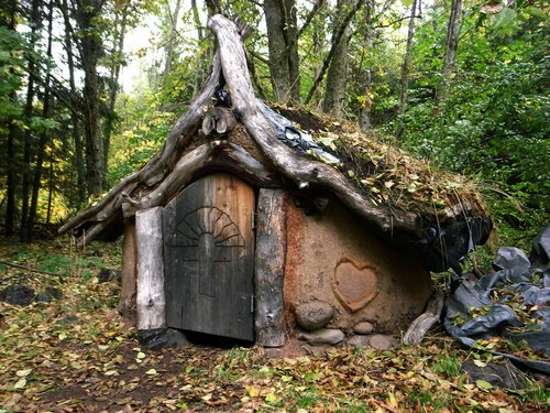 An enchanted cottage in the forest