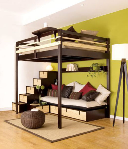 Funky Double Bed, With Elegant Seating Area Under The Bed Section