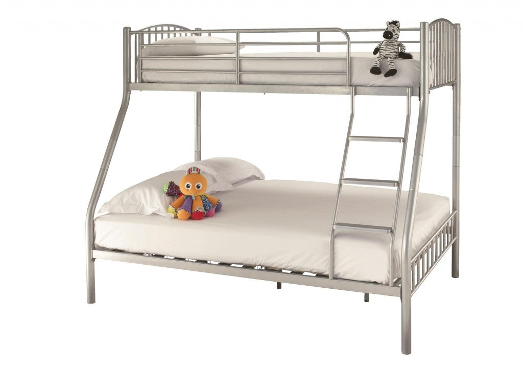 Grey Bunk Bed And Soft Toys