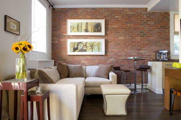 awesome red brick wall interior design | Awesome Brick Exposure