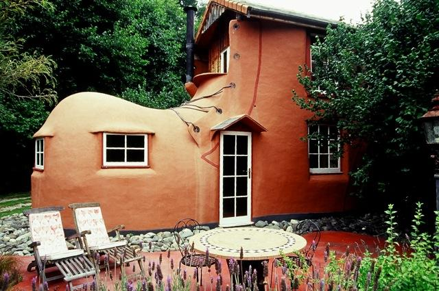Old Mother Hubbard's house, a large clay coloured shoe house