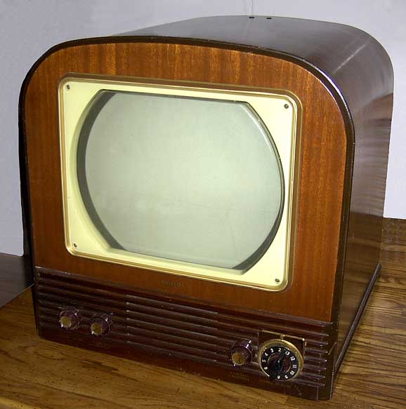 Wooden Television With Four Tuning Dials