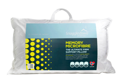 Microfibre pillows in packaging