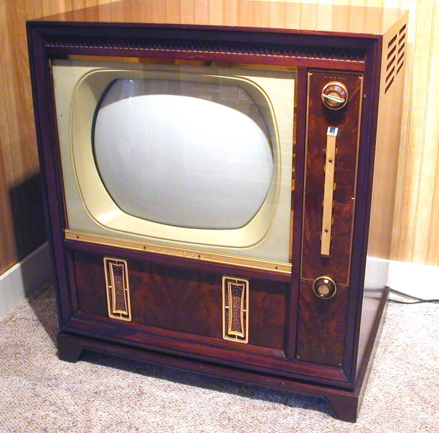 A Close Up On An Early Television