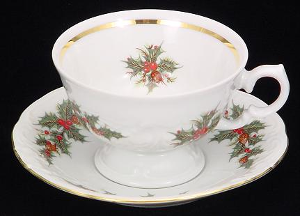 A traditional teacup and saucer