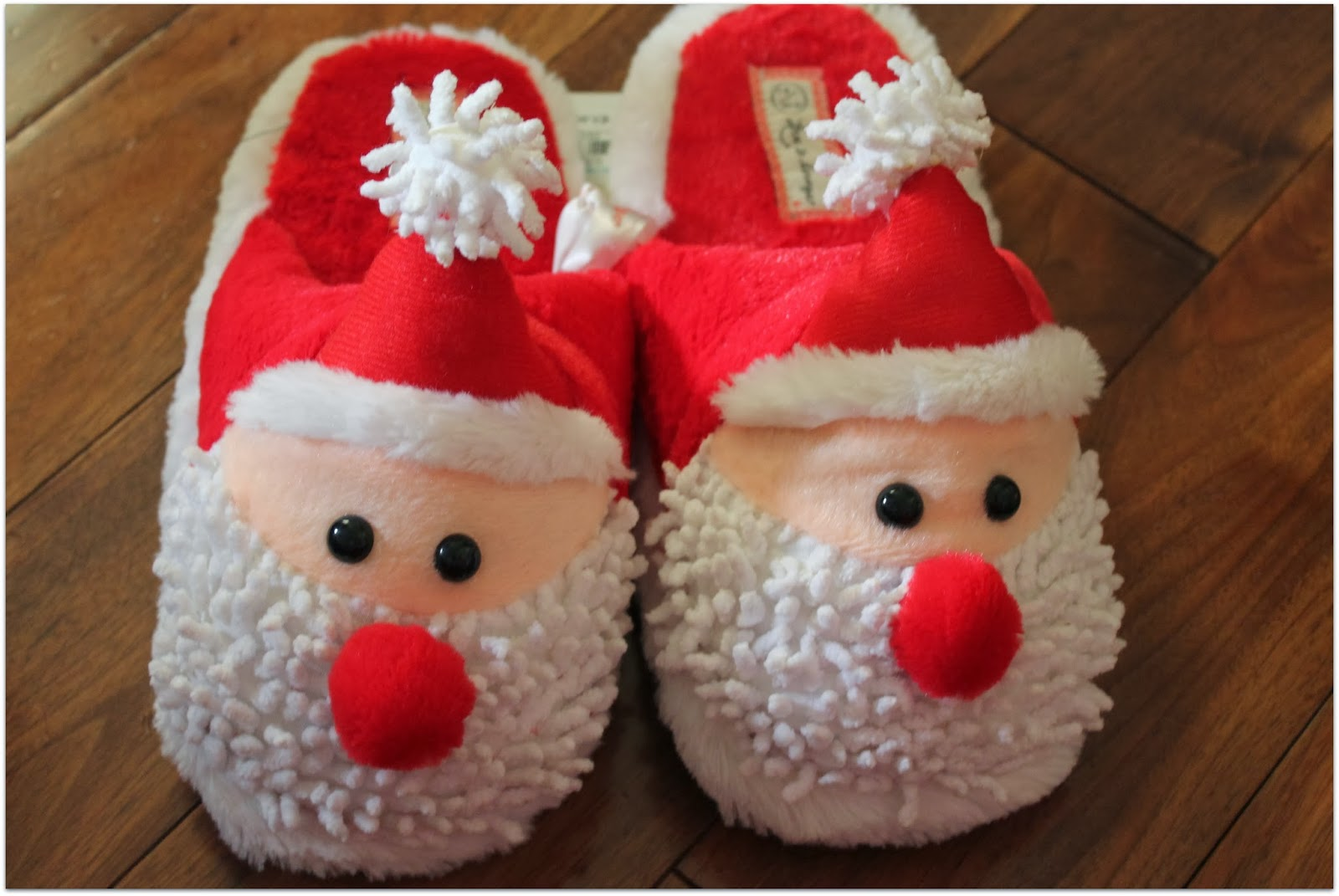 Santa Claus themed slippers