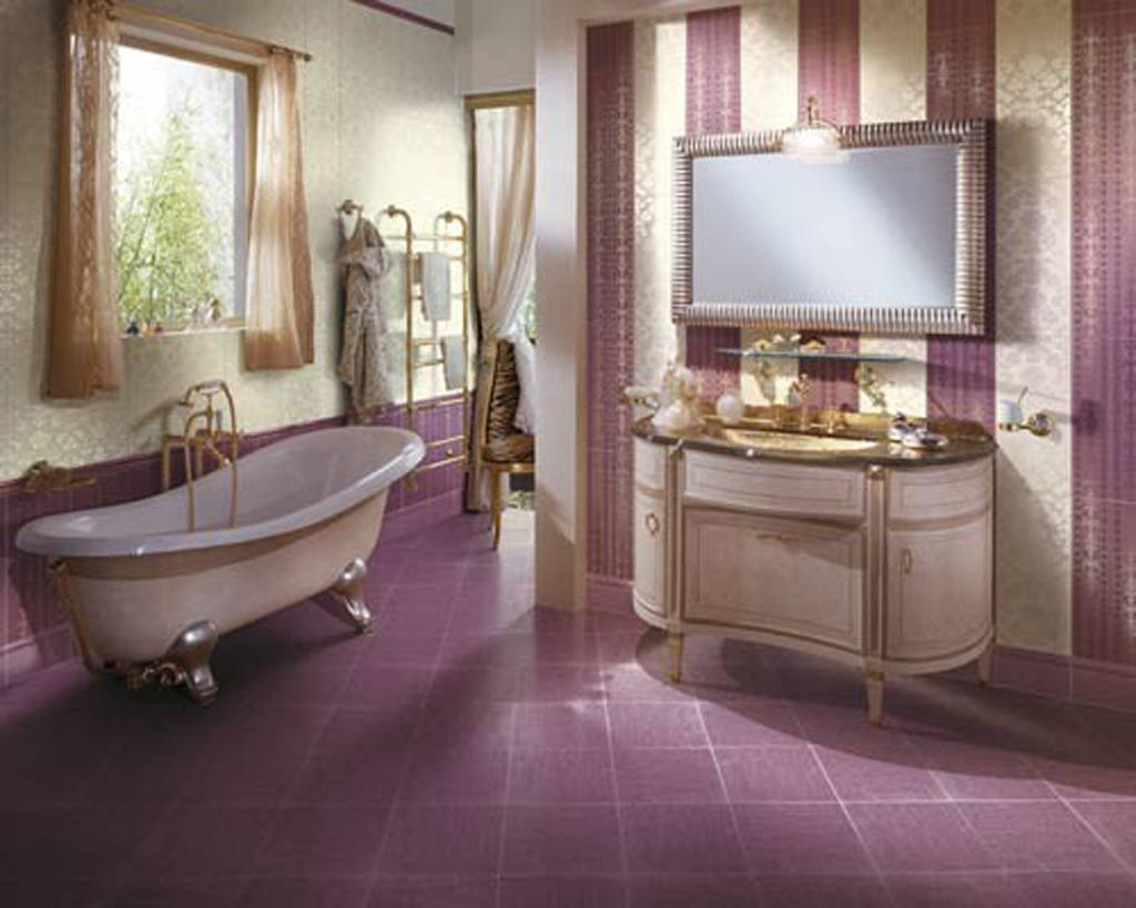 New 40 Purple Bathroom Tile Ideas And Pictures
