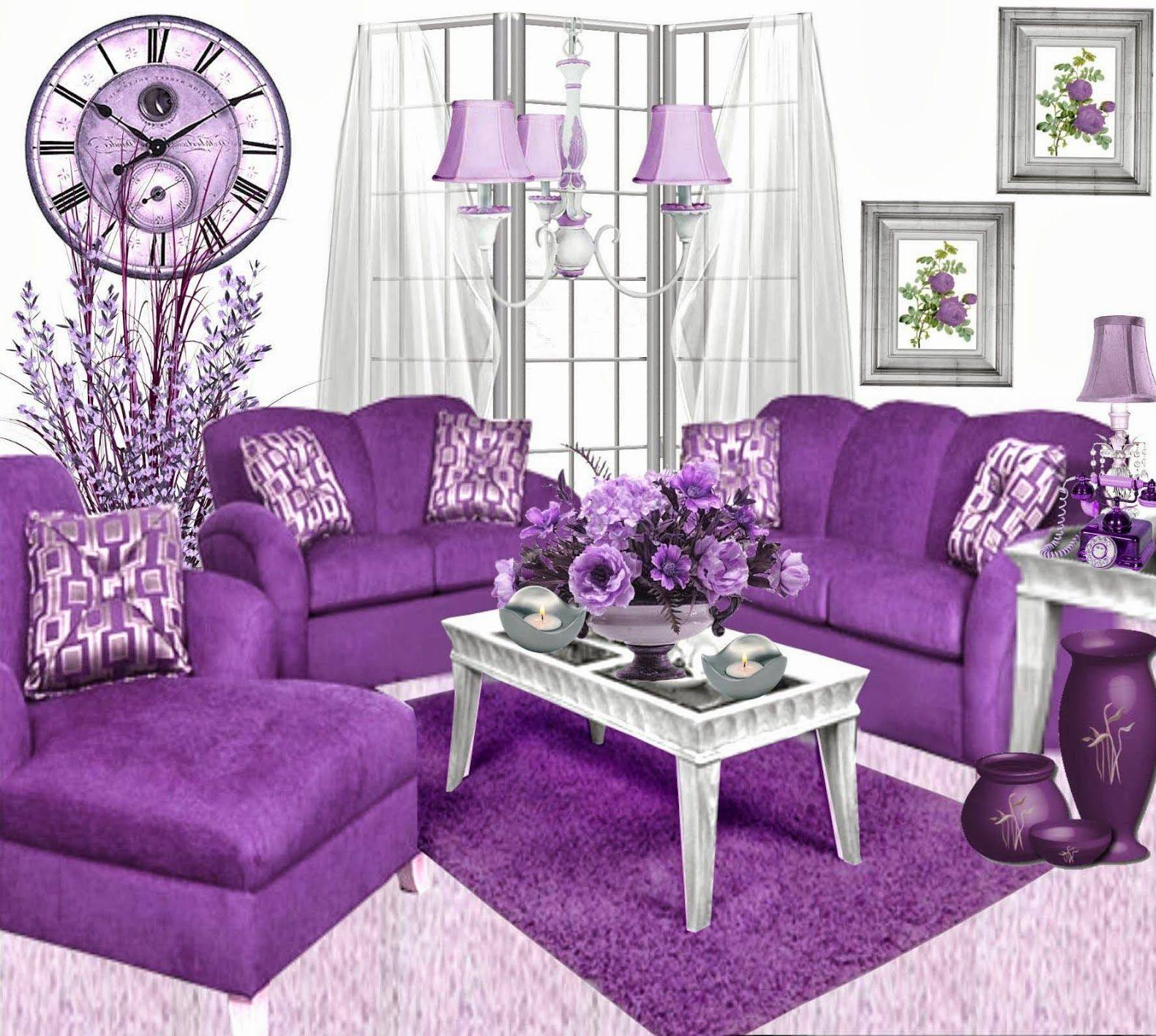 Beautiful Purple Living Room Ideas Pictures Compilation