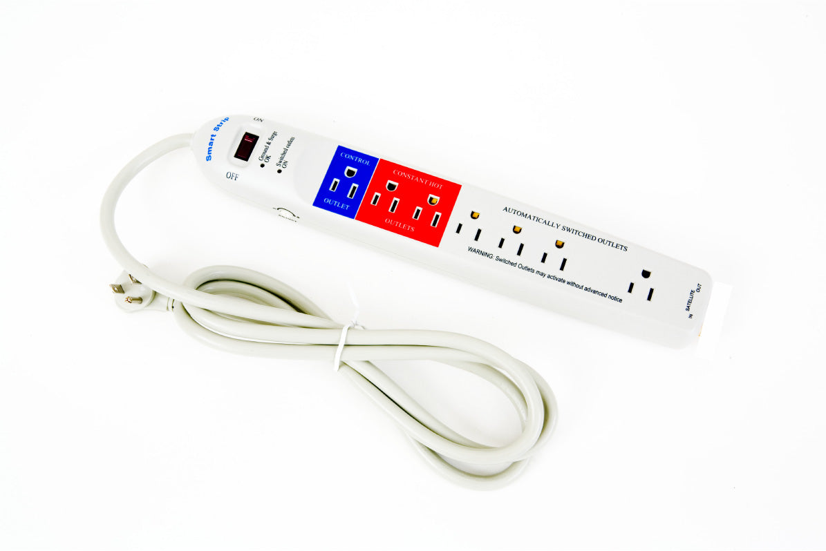 A smart extension lead, with different sockets for different purposes