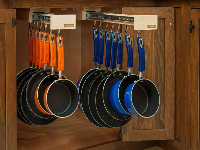 Pots and pans undercounter storage
