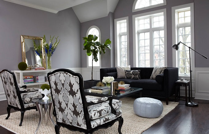 50 Shades of Grey Decorating Ideas - Living Room