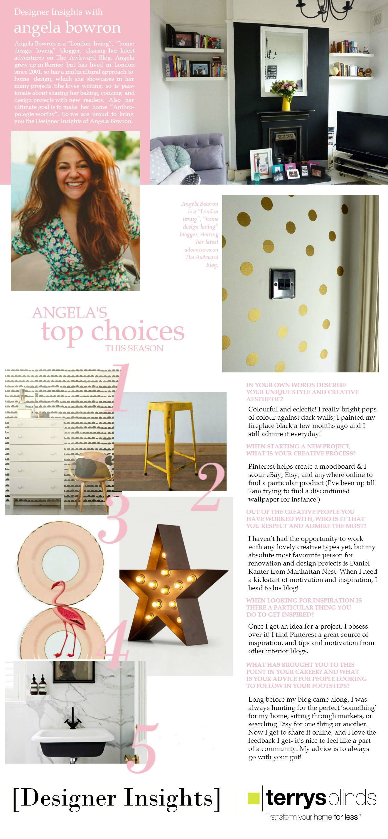 Designer Insights - Angela Bowron