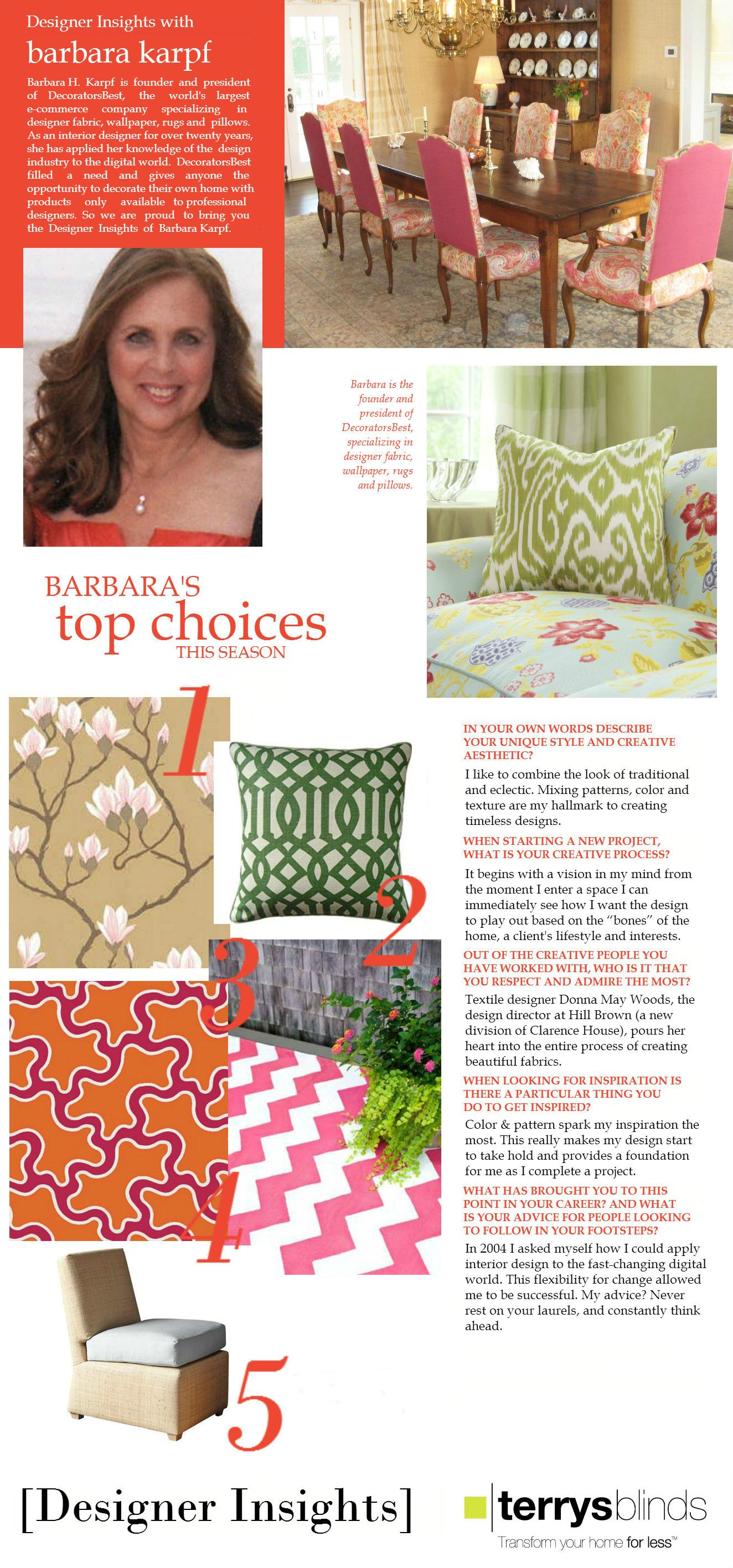 Designer Insights - Barbara Karpf