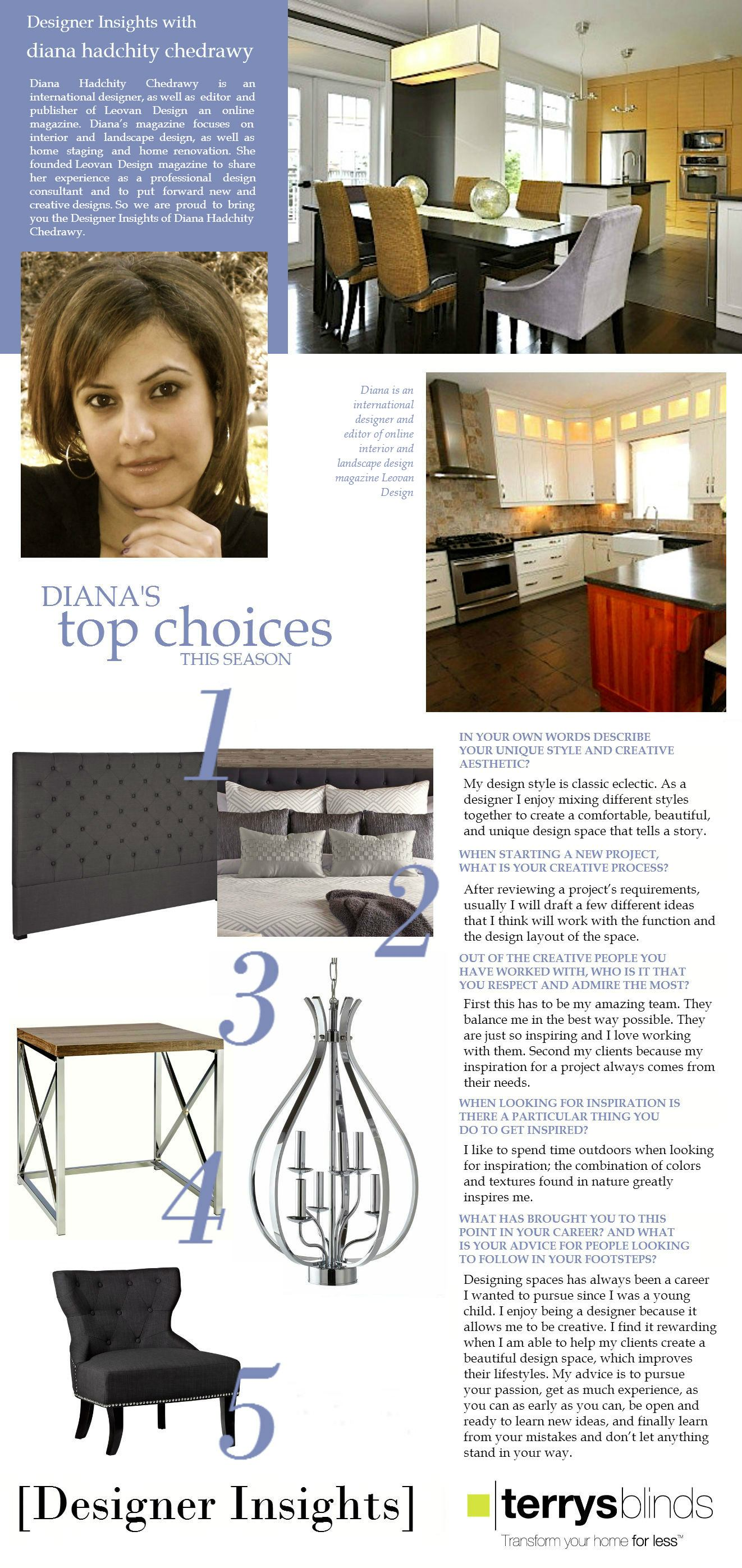 Designer Insights - Diana Hadchity Chedrawy