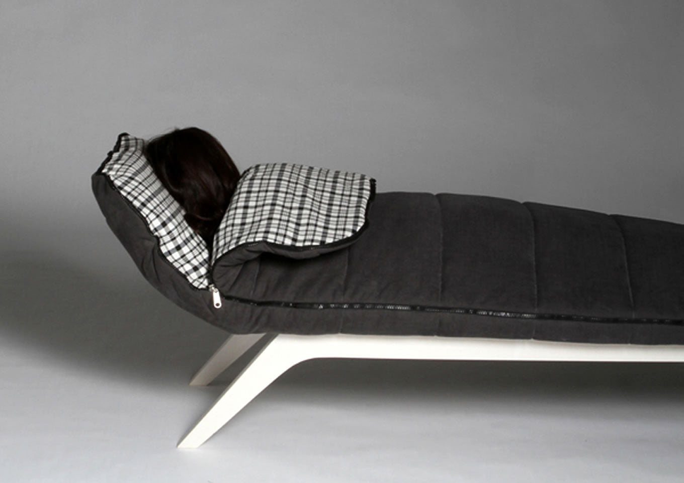 Sofa And Bed With Built In Sleeping Bag