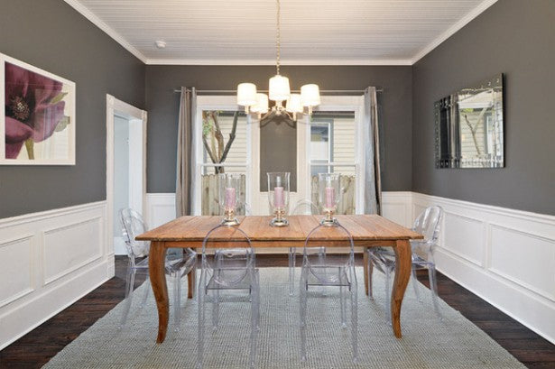 50 Shades of Grey Decorating Ideas - Dining Room