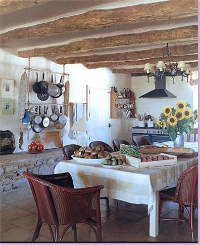 Rustic French farmhouse kitchen