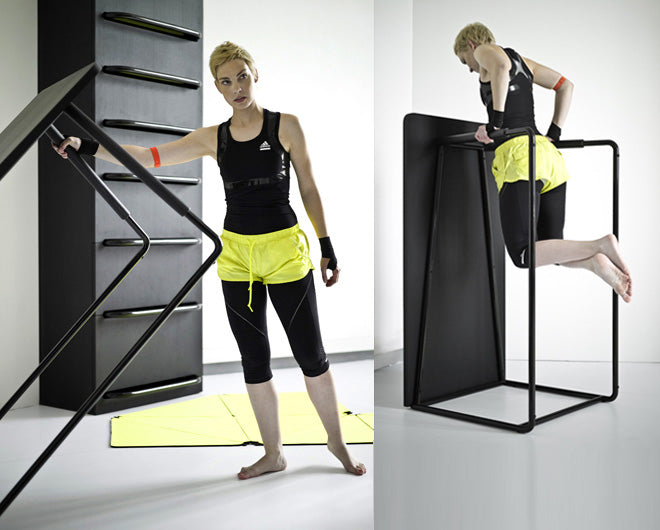 Living Room Table That Can Be Stood Up To Make An Exercise Frame