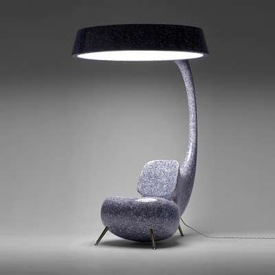 Multifunctional Furniture Lamp And Chair Combination