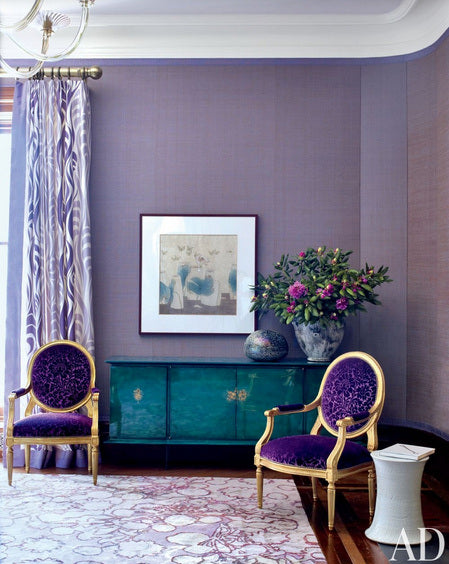 Teal And Purple Living Room