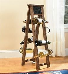 Ladder Used As A Wine Rack