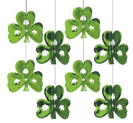 Lucky clover hanging decorations