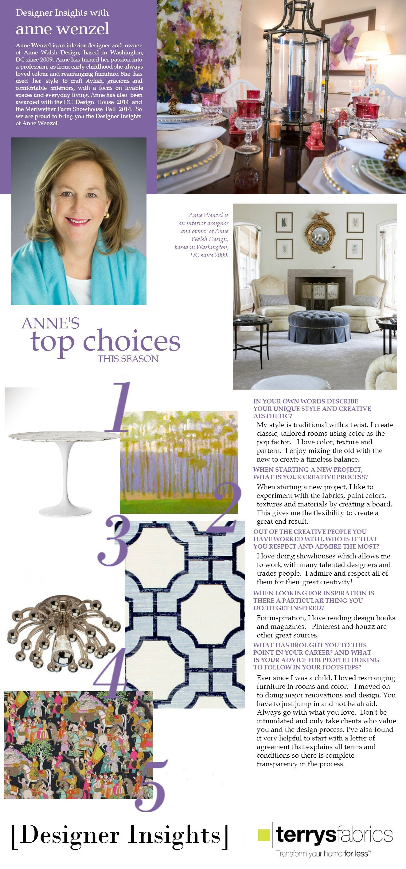 Designer  Insights - Anne Wenzel