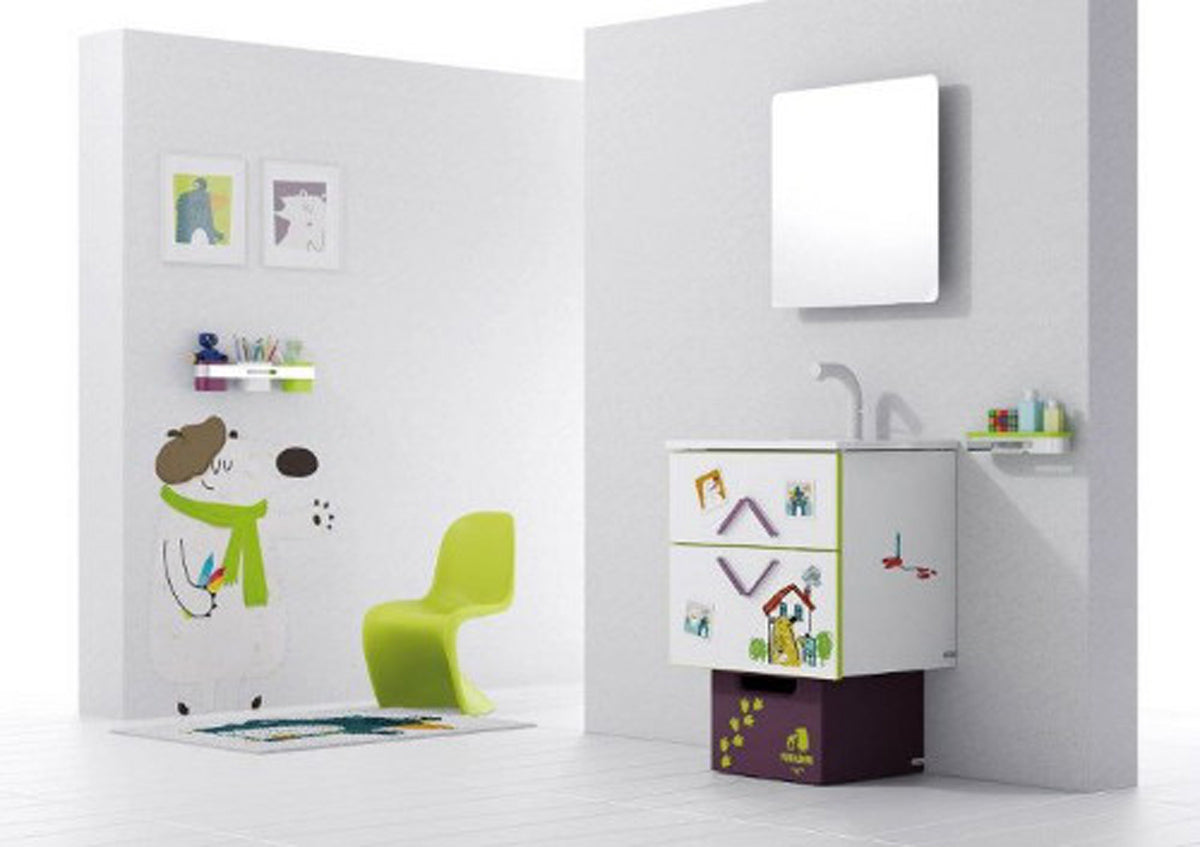 bathroom-architecture-luxurious-ideas-decorations-on-kids-bathroom-that-has-modern-green-chair-on-mat-motifit-also-cute-wall-painting-under-wall