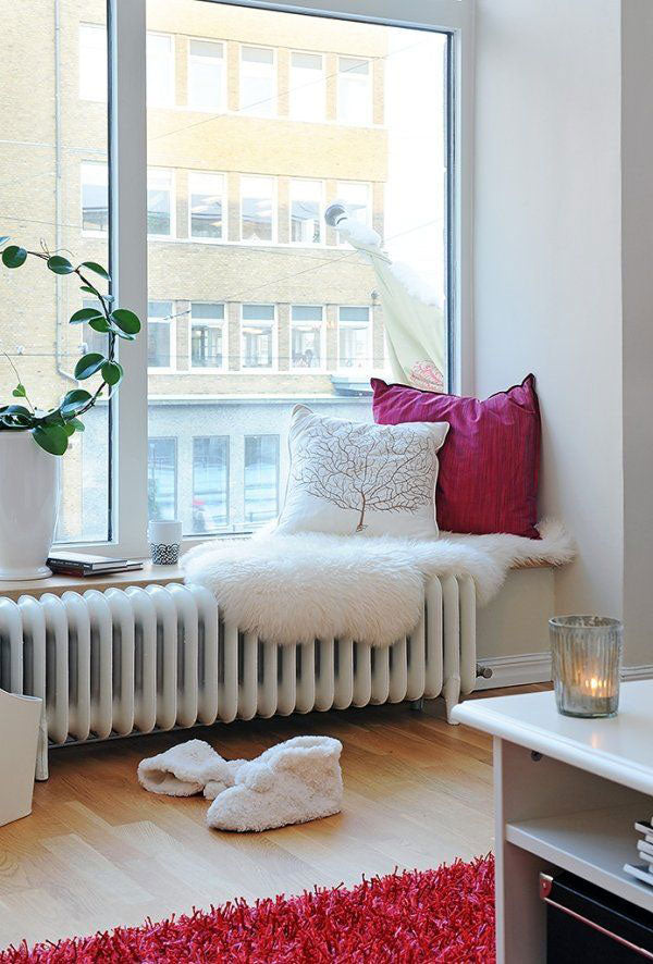 Cosy Window Seat For Reading, Overlooking Other Buildings