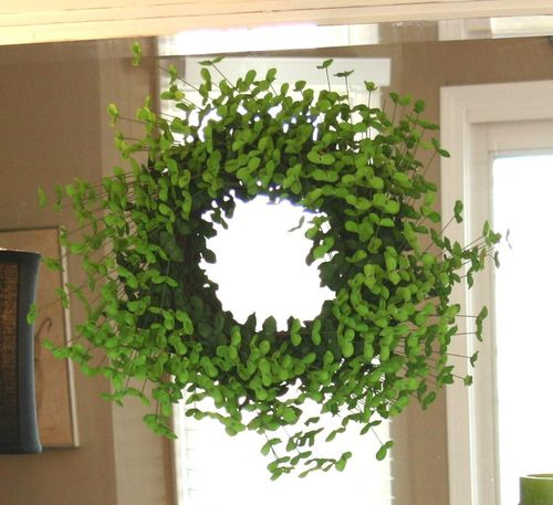 A clover decorative hanging wreath